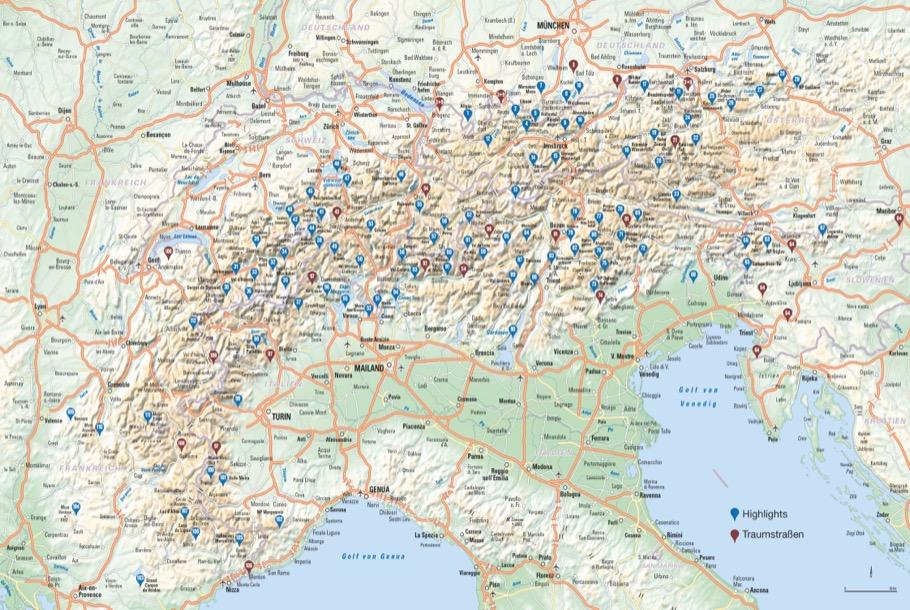 Das Reisebuch Alpen