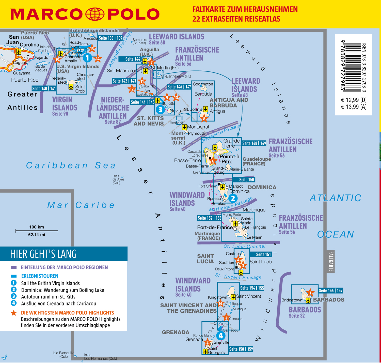 MARCO POLO Reiseführer Karibik, Kleine Antillen - Barbados, Windward Islands