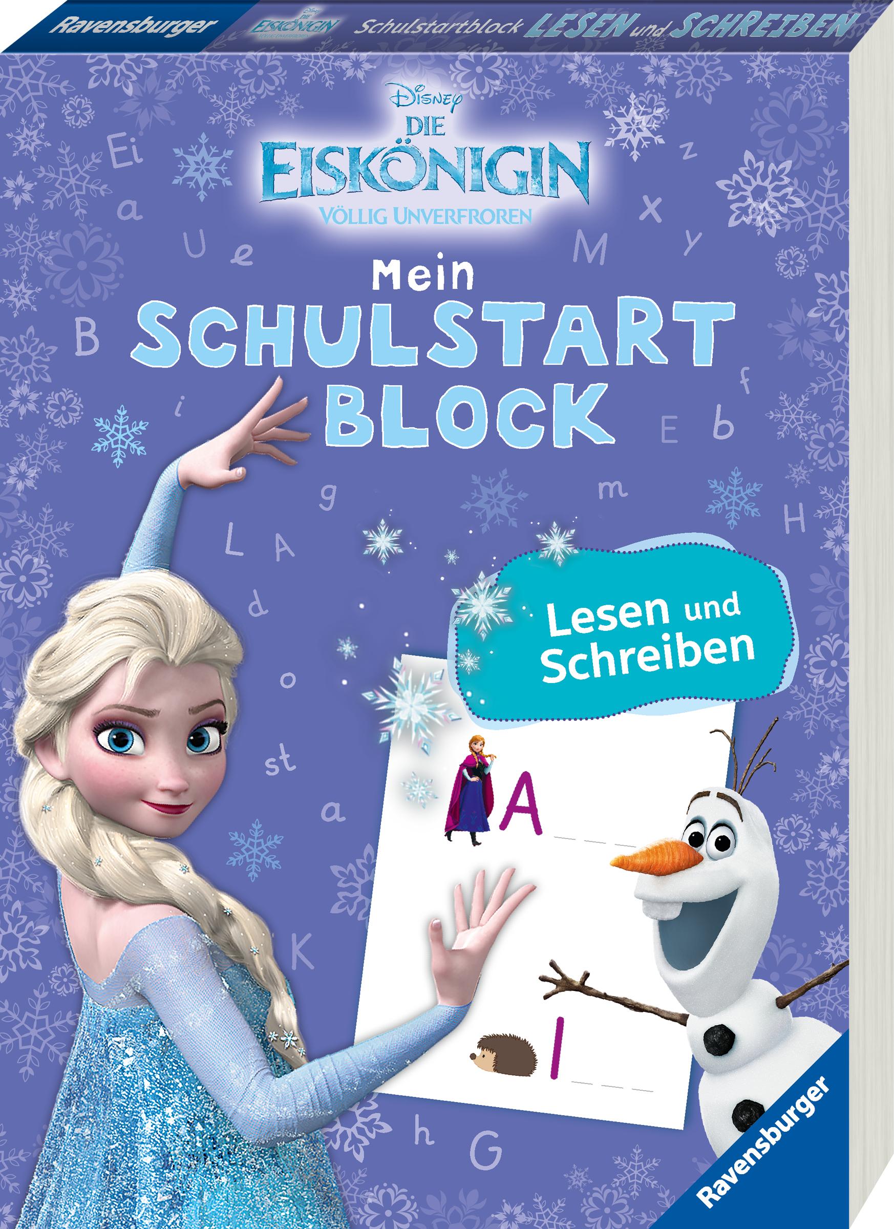 Disney Die Eiskönigin Mein Schulstartblock: Lesen und Schreiben