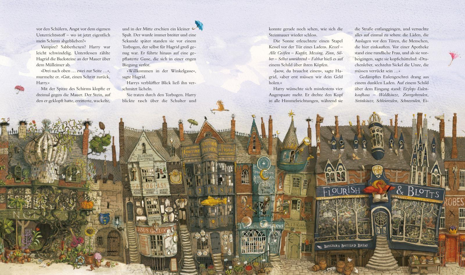 Harry Potter und der Stein der Weisen (farbig illustrierte Schmuckausgabe) (Harry Potter 1)