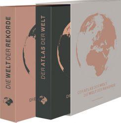 Weltatlas - Der Atlas der Welt, Die Welt der Rekorde - 2 Bände im Geschenkschuber