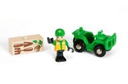 BRIO World 33798 - Waldarbeiter Quad, bunt