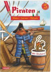 Piraten: Malen Lernen Rätseln