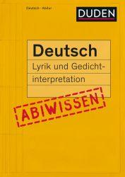 Abiwissen Deutsch - Lyrik und Gedichtinterpretation