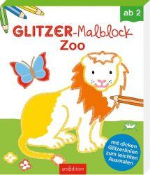 Glitzer-Malblock Zoo